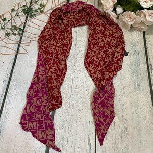 Missoni 100% silk scarf monogram red pink luxury